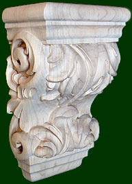 beautifully hand crafted wood corbels 1
