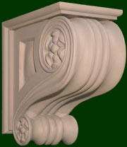 beautifully hand crafted wood corbels 5