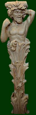 hand crafted and beautifully carved wood corbels