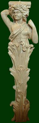 wood carved fireplace mantel