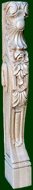 wooden corbel-hand carved